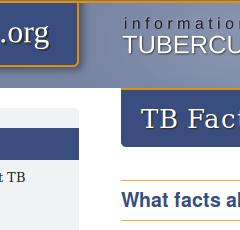 TB Facts website home page