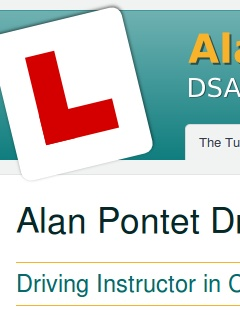 Alan Pontet Driving Tuition home page