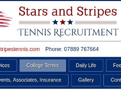 Stars and Stripes Tennis Recruitment web page