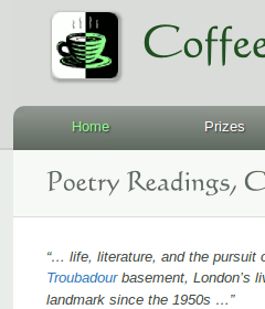 Coffee-House Poetry website home page