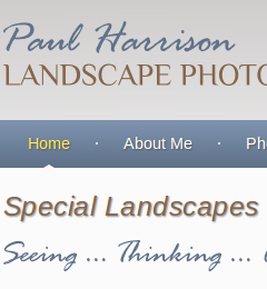 Paul Harrison Photography website home page