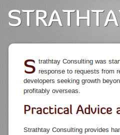 Strathtay Consulting website home page