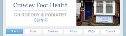 Crawley Foot Health Clinic home page
