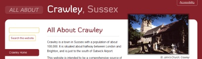 Crawley Sussex home page