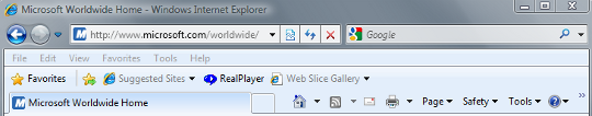 Internet Explorer version 8