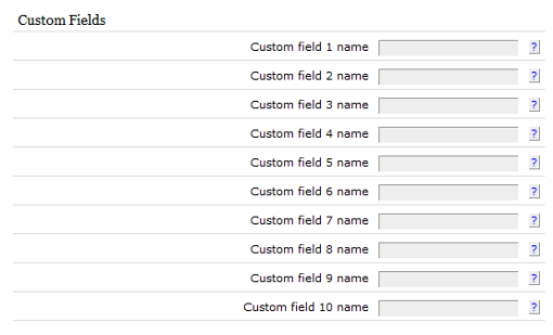 Textpattern custom fields screen